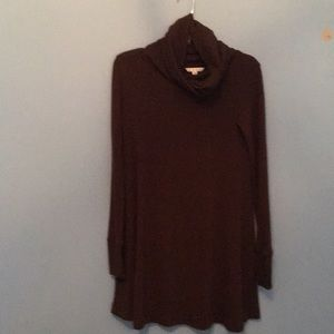 Fun and flirty choc. brown A-line tunic or dress.